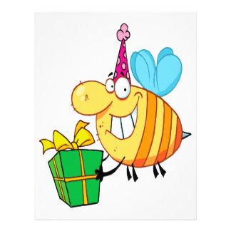 el feliz cumpleaños divertido manosea el personaje folleto 21,6 x 28 cm