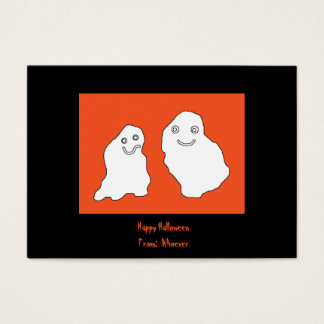 El feliz Halloween carda fantasmas Tarjeta De Negocios