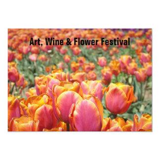 El festival de arte carda acontecimientos de las invitación 12,7 x 17,8 cm