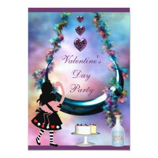 El fiesta Alicia de la tarjeta del día de San Invitación 12,7 X 17,8 Cm