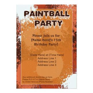 El fiesta anaranjado de Paintball invita
