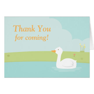 El fiesta blanco del pato le agradece tarjeta de