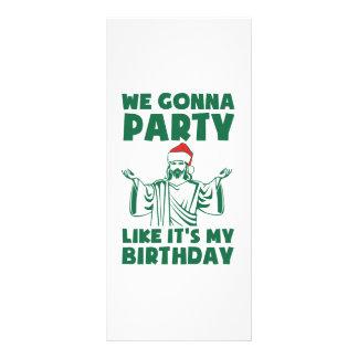 El fiesta como él es un cumpleaños del navidad lonas personalizadas