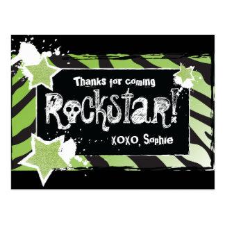 El fiesta como un verde de Rockstar- le agradece Postal