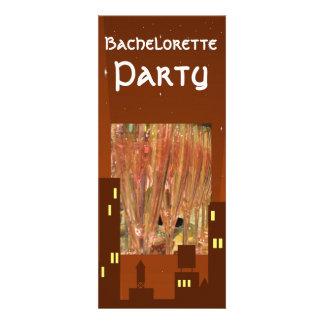 El fiesta de Bachelorette bebe la invitación de lo