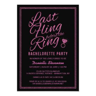 El fiesta de Bachelorette del Fling del último de Invitación 12,7 X 17,8 Cm