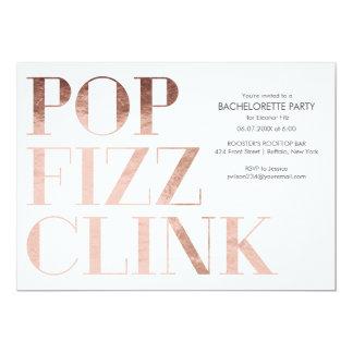 El fiesta de Bachelorette del tintineo del ruido Invitación 12,7 X 17,8 Cm