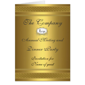 El fiesta de cena corporativo añade su logotipo tarjeta de felicitación
