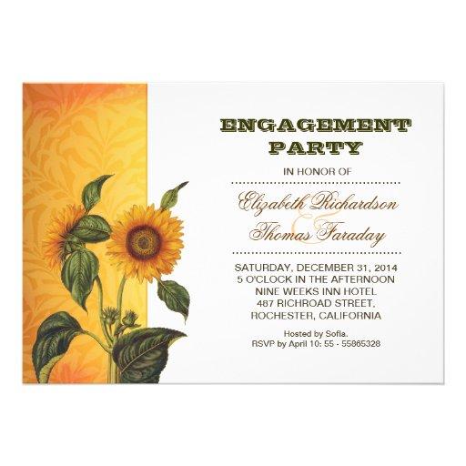 el fiesta de compromiso de los girasoles invita comunicado personal
