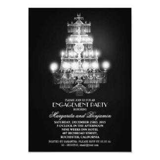 el fiesta de compromiso elegante de la lámpara del anuncios