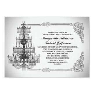 el fiesta de compromiso elegante de la lámpara del invitaciones personales