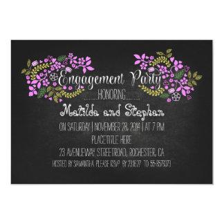 El fiesta de compromiso floral moderno de la invitaciones personales