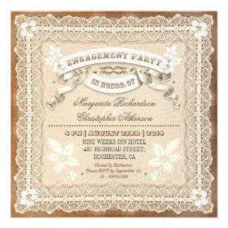 el fiesta de compromiso tipográfico del cordón del invitaciones personales