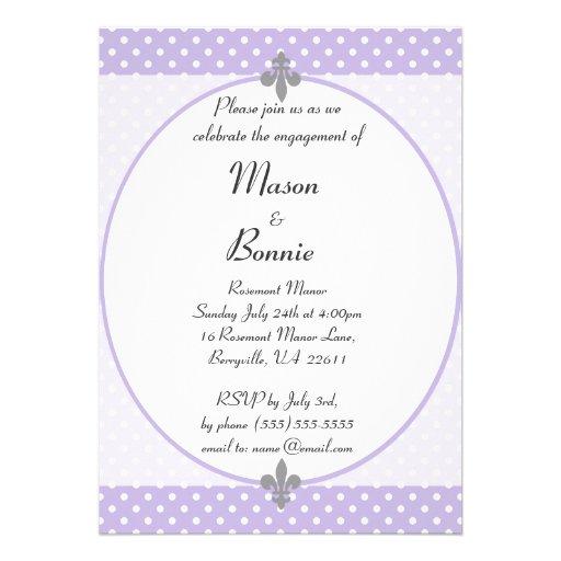 El fiesta de compromiso violeta elegante de los lu anuncio personalizado