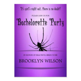 El fiesta de Halloween Bachelorette invita a la Invitación 12,7 X 17,8 Cm