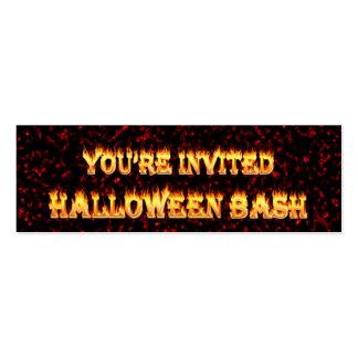 el fiesta de Halloween invita Tarjeta De Visita