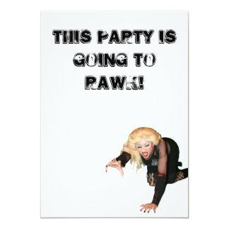 El fiesta de Hedwig invita Invitación 12,7 X 17,8 Cm