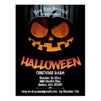 El fiesta de Jack O Halloween invita a la postal