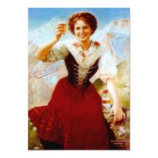 El FIESTA de la CERVEZA de Edelweiss del vintage Invitación 12,7 X 17,8 Cm
