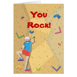 El fiesta de la escalada le agradece las notas tarjeta de felicitación