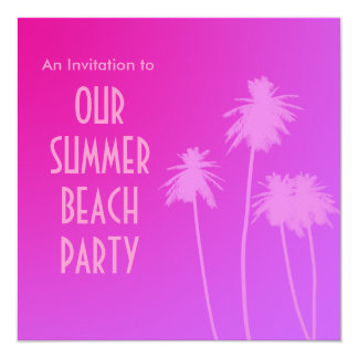 El fiesta de la playa del verano invita invitación 13,3 cm x 13,3cm