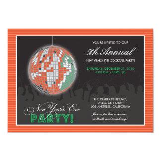 El fiesta de Noche Vieja de la bola de discoteca Comunicado Personalizado