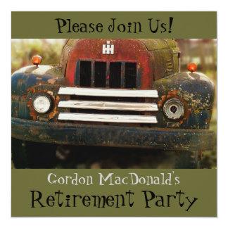 El fiesta de retiro antiguo del camión invita comunicado