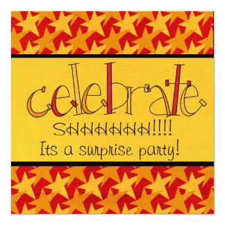 El fiesta de sorpresa invita invitación 13,3 cm x 13,3cm