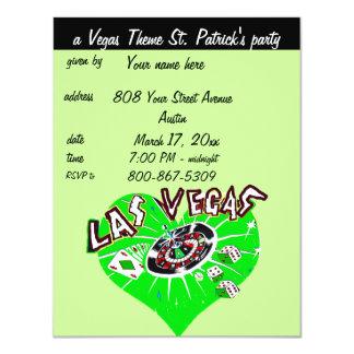 El fiesta de St Patrick del tema del casino de Invitación 10,8 X 13,9 Cm