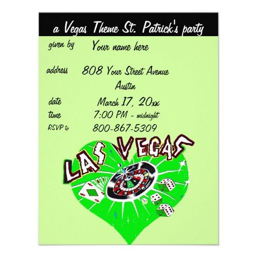 El fiesta de St Patrick del tema del casino de Veg Anuncio Personalizado