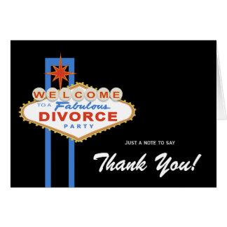 El fiesta del divorcio de Las Vegas le agradece Tarjeta Pequeña