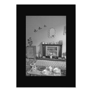 El fiesta del estreno de una casa de los años 60 invitación 12,7 x 17,8 cm
