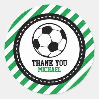 El fiesta del fútbol del fútbol le agradece pegatina redonda