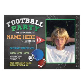 El fiesta del fútbol invita al cumpleaños invitación 12,7 x 17,8 cm
