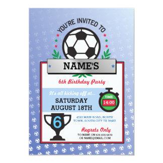 El fiesta del fútbol se divierte invitaciones del invitación 12,7 x 17,8 cm