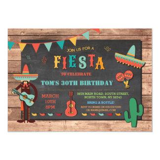 El fiesta del gorra mexicano de México de la Invitación 12,7 X 17,8 Cm