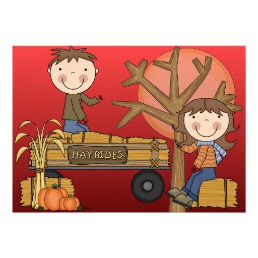 El fiesta del otoño del paseo del heno invita - al invitaciones personales
