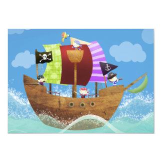 El fiesta del pirata invita invitación 12,7 x 17,8 cm