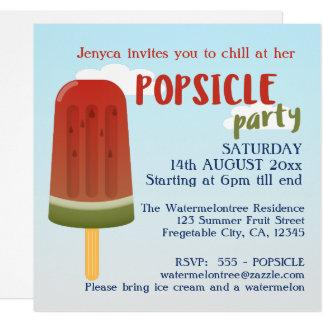 El fiesta del Popsicle de la invitación de la