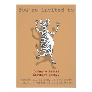 El fiesta del safari de la cebra invita comunicado personal