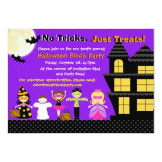 El fiesta del traje de Halloween de los niños de Invitación 12,7 X 17,8 Cm