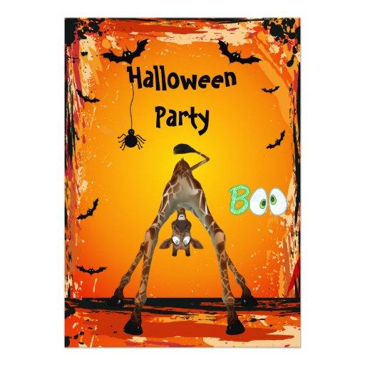 El fiesta divertido caprichoso de Halloween de la  Invitación