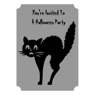 el fiesta enojado negro divertido de Halloween del Anuncios Personalizados