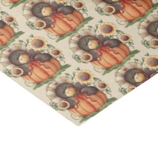 El fiesta estacional del cuervo de la caída tejó papel de seda