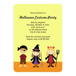 El fiesta Halloween embroma invitaciones del traje Invitación 12,7 X 17,8 Cm