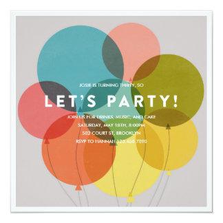 El fiesta hincha la invitación del cumpleaños