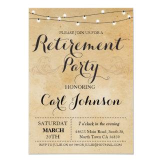 El fiesta jubilado invitación del retiro invita