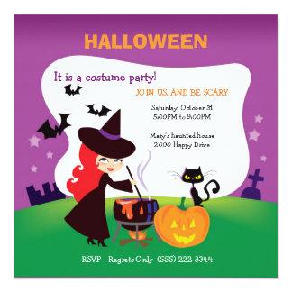 El fiesta más lindo de Halloween del niño con la Invitación 13,3 Cm X 13,3cm