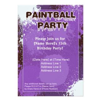 El fiesta púrpura de Paintball invita