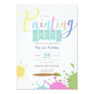 El fiesta que duele del arte el | invita invitación 12,7 x 17,8 cm